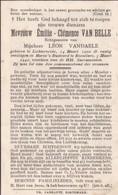 Lichtervelde, Roeselare, 1942, Emilie Van Belle, Vandaele - Images Religieuses