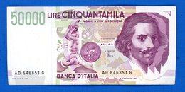 50.000 Lire  1992  Sup - [ 2] 1946-… : République