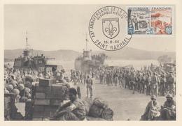 Carte Maximum  1er  Jour   FRANCE  XXéme  Anniversaire  De  La  Libération    SAINT  RAPHAËL   1964 - 1960-69