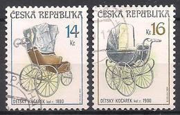 Tschechien  (2004)  Mi.Nr.  414 + 415  Gest. / Used  (6fc20) - Gebraucht