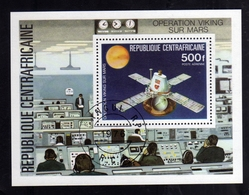 REPUBBLICA CENTRAFRICANA CENTRAFRICAINE CENTRAL AFRICAN REPUBLIC 1976 SPACE VIKINK MARS BLOCK SHEET USED OBLITERE' - Repubblica Centroafricana