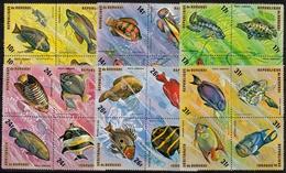 Burundi MiNr. 1085/08 Zd ** Fische Im 4er Block - Burundi