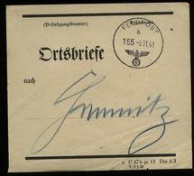3. Reich : DR Feldpost Vorbindezettel Ortsbriefe Chemnitz: Gebraucht FP Stempel 155 - Chemnitz 1941, Bedarfserhaltung. - Briefe U. Dokumente
