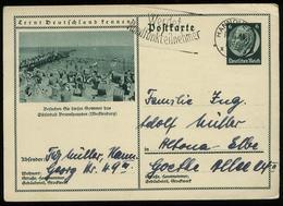 3.Reich - DR GS Postkarte Mit Bild Ostseebad Brunshaupten: Gebraucht Hannover - Altona 1934, Bedarfserhaltung. - Briefe U. Dokumente