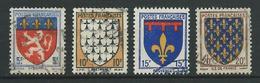FRANCE 1943 . Série N°s 572 à 575 . Oblitérés . - France
