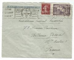 MERMOZ 3FR+15C SEMEUSE LETTRE BATEAU AVION MECANIQUE CROISIERE NORMANDIE 1938 NEW YORK A RIO DE JANEIRO - Postmark Collection (Covers)