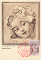 Carte  Maximum   1er   Jour     FRANCE     CROIX  ROUGE    Oeuvre  De  FRAGONARD    ANGOULEME   1962 - Cartes-Maximum
