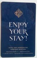 Kempinski Munich - Hotelsleutels (kaarten)
