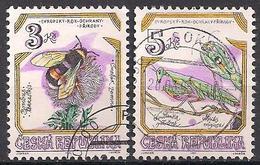 Tschechien  (1995)  Mi.Nr.  73 + 74  Gest. / Used  (6fc29) - Tschechische Republik