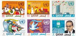 Qatar 1968 U,N, Day, 6 Stamps MNH. Cpl. Set- Reduced Price - SKRILL PAY - Qatar