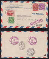 USA 1947 Airmail Cover BRONX To BASEL Switzerland - Air Mail