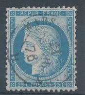 N°60C TYPE III VARIETE MARQUER AU VERSO. - 1871-1875 Ceres