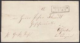 Preussen Umschlag BITTERFELD R2 Nach CÖSSELN   (24561 - Ohne Zuordnung