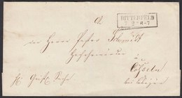 Preussen Umschlag BITTERFELD R2 Nach CÖSSELN   (24561 - Francobolli