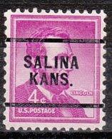 USA Precancel Vorausentwertung Preo, Locals Kansas, Salina 256 - Vereinigte Staaten
