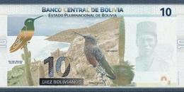 Bolivia P.248 10 Bolivianos 2018  Unc - Bolivië
