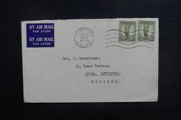 AUSTRALIE - Enveloppe De Melbourne Pour Stoke En 1954, Affranchissement Plaisant - L 38256 - Marcophilie