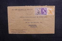 AUSTRALIE - Enveloppe De Canberra Pour Bruxelles En 1956, Affranchissement Plaisant - L 38257 - Marcophilie