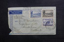 AUSTRALIE - Enveloppe De Sydney Pour Amsterdam En 1934, Affranchissement Plaisant - L 38258 - Marcophilie