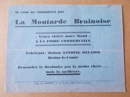 BRAINE LE COMTE  Moutarde -  Vinaigre - Hôtel - Collezioni