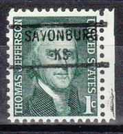 USA Precancel Vorausentwertung Preo, Locals Kansas, Savonburg 841 - Vereinigte Staaten