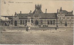 Vilvorde   La Gare Et Le Monument Portaels.   1923   Naar   Bruxelles - Vilvoorde