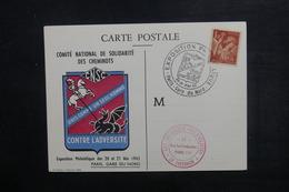 FRANCE - Carte De L 'exposition Philatélique Des Cheminots  à Paris En 1943  - L 38267 - Marcofilia (sobres)