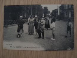 CP LE CROTOY 80 L'AVIS AUX BAIGNEURS - Le Crotoy