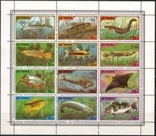 Guyana MiNr. 580/91 Zd. ** Fische - Guyana (1966-...)