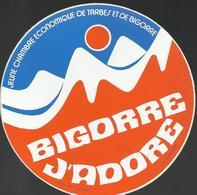 Auitocollant - Bigorre J'adore - Jeune Chambre Economique De Tarbes Et De Bigorre - Panini