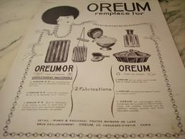 ANCIENNE  PUBLICITE COLLIERS BRACELETS LE OREUM  1925 - Juwelen & Horloges