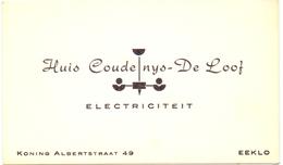 Visitekaartje - Carte Visite - Electriciteit - Huis Coudenys - De Loof - Eeklo - Cartes De Visite