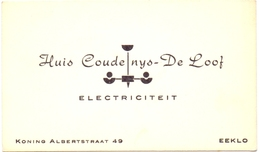 Visitekaartje - Carte Visite - Electriciteit - Huis Coudenys - De Loof - Eeklo - Visiting Cards