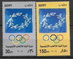 2004 Ägypten Mi. 2232-3**MNH  . Olympische Sommerspiele, Athen - Egipto