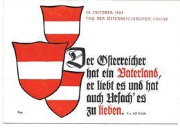 1671i: AK- Heimatbeleg Wien Nach 2301 Gross Enzersdorf, Tag Der Fahne 1964, Patriotika - Gänserndorf