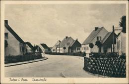 Ansichtskarte Tutow Saarstraße. Siedlung  Vorpommern-Greifswald Jarmen 1943 - Germany