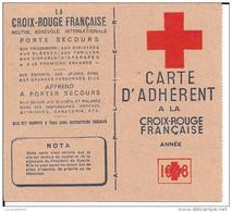 CARTE ADHERENT A LA CROIX ROUGE FANCAISE  1948 + Timbre De La LIGUE INTERNATIONALE SOCIETES DE LA CROIX ROUGE - Postmark Collection (Covers)