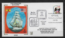 "1976 Cachet Cover, Sailing Ships ""Juan Sebastian De Elcano"" Operation Sail,VF-XF! (RN-8) - Ships"