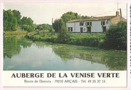 Arçais: Auberge De La Venise Verte - Double Carte Publicitaire - - France