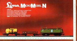 Catalogue LIMA MicroModel N 1968-69 Spur 1/160 - En Italien, Anglais, Français, Néerlandais Et Allemand - Français