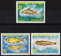 Obervolta MiNr. 752/54 ** Süßwasserfische - Obervolta (1958-1984)