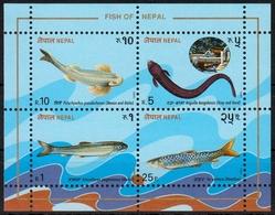 Nepal MiNr. Bl. 3 ** Fische - Nepal