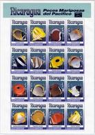 Nicaragua MiNr. 3196/3211 ** Schmetterlingsfische Im Zd-Bogen - Nicaragua