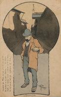 CP Avant 1903 Signée Georges L' Absinthe Poeme Reve Cerveau Filtre Vert Qui Tue - Gesundheit