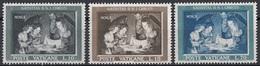 """Vaticano 1960 Uf. 292/294 """"Natività"""" - Quadro Dipinto Da Gherardo Delle Notti Full Set MNH Paintings Tableaux - Religious"""