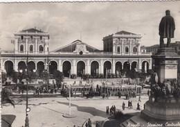 NAPOLI-STAZIONE CENTRALE-2 TRAM IN ATTESA-CARTOLINA VERA FOTOGRAFIA VIAGGIATA IL 25-11-1939 - Napoli