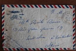 1954  -  POSTE  AUX  ARMEES   ENVELOPPE  COMPLETE   D ' UN  MILITAIRE  A  SA  FAMILLE  EN  ALGERIE  FRANCAISE - Marcophilie (Lettres)