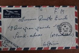 1953  -  POSTE  AUX  ARMEES   ENVELOPPE  COMPLETE   D ' UN  MILITAIRE  A  SA  FAMILLE  EN  ALGERIE  FRANCAISE - Marcophilie (Lettres)