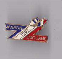 PIN'S  THEME  AVIRON  CLUB DE LIBOURNE  1991  EN GIRONDE - Roeisport