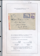 BELGIAN CONGO 1941 ISSUE ALBERT'S MEMORIAL CENSORED COVER FROM JADOVILLE 20.1.41 TO SOUTH AFRICA - 1923-44: Briefe U. Dokumente
